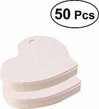 bestomz 50pcs Etiketten aus Kraftpapier von Herz