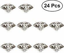 BESTOMZ Deko Diamant Kristall Glasdiamant Hochzeit Taufe Dekoration 30mm 24pcs (Transparent)