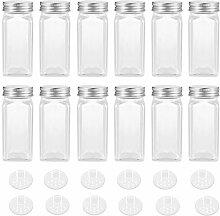 BESTONZON 12 Stück Gewürzgläser Glas 120ml