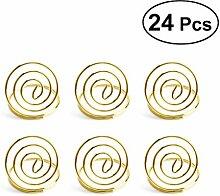 BESTONZON 24 Stück Kartenhalter Clip Fotohalter