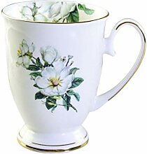 BESTONZON 350 ml Bone China Becher Blumendruck