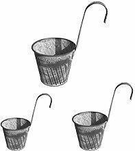 BESTonZON 3Pcs Wand Hängen Blumentöpfe Vase