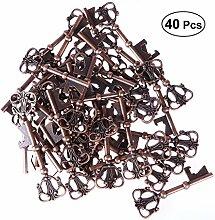 BESTONZON 40pcs Keychain Flaschenöffner Portable
