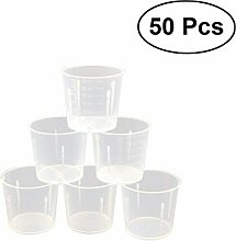 BESTONZON 50 stücke 30 ml Kunststoff Messbecher