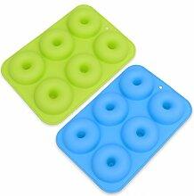 BESTONZON 6-Cavity Silikon Donut Formen Set von 2,