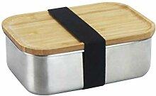 BESTONZON Edelstahl Bento Boxen Lunchbox mit Holz