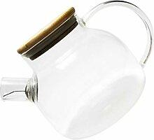BESTonZON Glas-Teekanne mit Filterspule