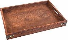 BESTONZON Holz Tablett rechteckigen dekorativen