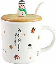 BESTONZON Nette 3D Schneemann Kaffee Becher Milch