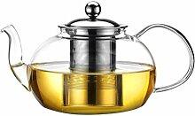 BESTONZON Teekanne aus Glas, hitzebeständig,