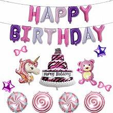 BESTOYARD 1 Sätze Happy Birthday Balloons Letters