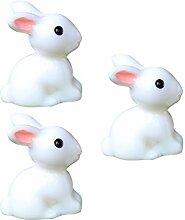 BESTOYARD 20 Stücke Kaninchen Miniatur Hase Figur