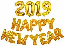 BESTOYARD 2019 Zahlen Ballons Folienballon