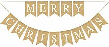 BESTOYARD Buchstaben Bunting Banner Weihnachten