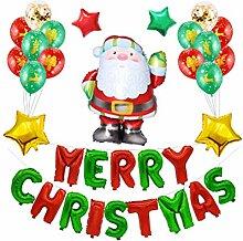 BESTOYARD Buchstaben Frohe Weihnachten Ballons Set