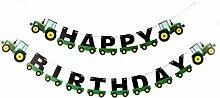 BESTOYARD Geburtstagsbanner Traktor Girlande für