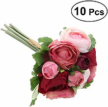 BESTOYARD Künstliche Blumen Kamelie Brautstrauß