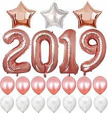 BESTOYARD Silvester Ballons 2019 Zahlen