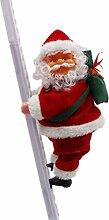 BESTOYARD Weihnachtsmann auf Leiter Elektrische