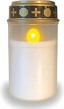 Bestpoint ® LED Grablicht weiß mit Batterie +