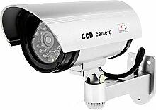 bestpower Outdoor Fake/Dummy CCTV Kamera LED-Licht Fake Überwachungskamera Dummy Kamera für Sicherheit Wasserdicht CCTV Überwachungskamera mit blinkendem LED-Lich