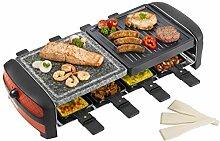 Bestron Antihaftbeschichtetes Raclette mit Grill-