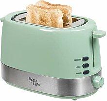 Bestron Design Toaster mit 2 Röstkammern,