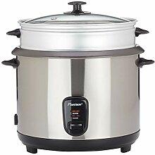 Bestron Großer Reiskocher mit Dampfgar-Aufsatz