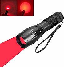 BESTSUN Rotlicht LED Taschenlampe, rote Taktische
