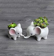 Besttimes Keramik 2er Set niedliche Elefanten,
