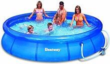 Bestway 57112 - Fast Set Pool 366 x 76 cm mit Pumpe