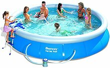 Bestway 57124GS Fast Pool Set mit Filterpumpe GS,