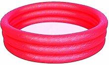 Bestway Aufblasbar Kinder Bunt Planschbecken Kinder Wasser Activity Spaß-spiel - Rot, 3 Ring - 102cm x 25cm