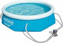 Bestway Fast Set Pool rund mit Filterpumpe und