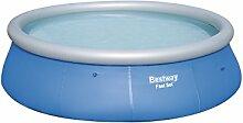 Bestway Fast Set Pool, rund, ohne Pumpe, blau, 396