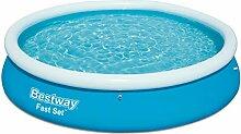 Bestway Fast Set Pool rund, stellt sich von selbst