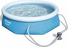 Bestway Fast Set Pool Set mit Filterpumpe 244 X 66cm
