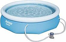 Bestway Fast Set Pool Set mit Filterpumpe, 305 X 76cm