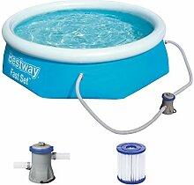 Bestway Fast Set Pool-Set mit Filterpumpe, rund,