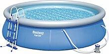 Bestway Fast Set Pool Set mit Filterpumpe + Zubehör, 457 X 107cm
