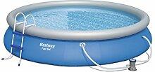 Bestway Fast Set Pool  Set mit Filterpumpe + Zubehör 457 x 84cm