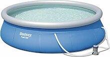 Bestway Fast Set Pool Set rund, blau, 396 x 84 cm