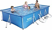 Bestway Frame Pool Steel Pro, Set mit Filterpumpe,