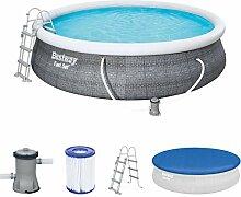 Bestway Komplettset Fast Pool 457x457x107 cm,