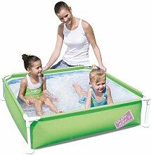 Bestway MY FIRST FRAME grün Schwimmbad Familie Garten Outdoor Planschbecken 121,9x 121,9x 30,5cm