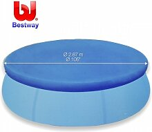 Bestway Poolabdeckung 24cm PE rund blau