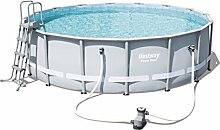 Bestway Power Steel Frame Pool Komplettset rund,
