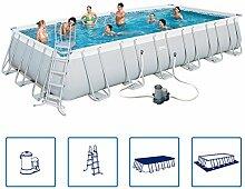 Bestway Power Steel Schwimmbecken Schwimmbad Pool 732x366x132 cm komplettse