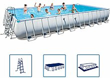 Bestway Power Steel Stahlrahmen Swimming Pool Set rechteckig 956x488x132 cm