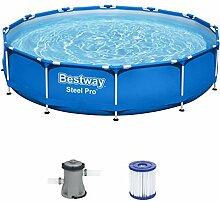 Bestway Steel Pro Frame Pool, 366 x 76 cm, Set mit